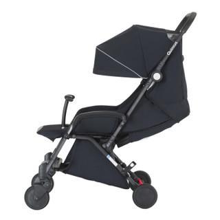 昆塔斯(Quintus)Tody婴儿推车可坐可躺伞车避震加宽轻便折叠可登机童车N77 黑色