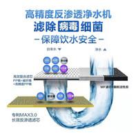 史密斯(A.O.SMITH)家用净水器NH1200D 1.2升/分钟 标配专利智能滤芯更换提示龙头 低废水即滤反渗透净水机