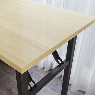 佳佰 电脑桌折叠桌办公会议桌学习培训桌长方形餐桌书房卧室简易台式笔记本桌 80cm*40cm*75cm