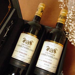布多格 法国原瓶原装进口红酒 骑士干红葡萄酒双支礼盒装 750ml*2瓶