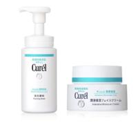 2瓶装| Curél(Curel)珂润润浸保湿面霜日霜 40g+ 润浸保湿洁面泡沫 150ml
