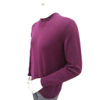 KINGDEER鹿王 男元领平针套衫 101814202 C40519-紫红色 180/96A