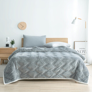京东京造 毛毯被加厚 双层法兰绒羊羔绒冬季毛毯 双人毯子 200*230