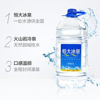 恒大冰泉 长白山天然弱碱性矿泉水 4L*4桶 整箱北京地区厂家直送