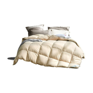 水星家纺出品 百丽丝 鹅毛被 羽毛被子 羽绒鹅毛被芯 加厚冬被  保暖盖被 单人 1.5米床 200*230cm