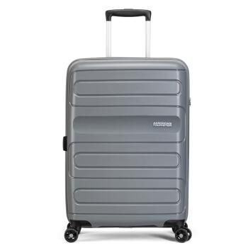 AMERICAN TOURISTER 美旅 拉杆箱 男女商务PP行李箱静音耐磨万向轮TSA锁旅行箱 28英寸托运箱 51G灰色