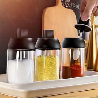 乐博乐博 ROBOROBO 厨房家用防潮调料盒玻璃密封调味瓶罐子盐罐糖味精瓶罐刷油壶蜂蜜R12017702