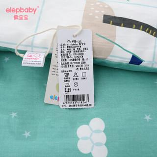 象宝宝elepbaby)婴儿床品套件宝宝床上用品被套被芯枕套枕芯可拆洗被子枕头幼儿园四件套150X120CM绿色