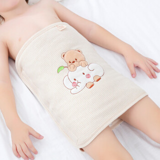 欧育婴儿护肚围秋冬1-6岁防踢被儿童肚兜可调节加棉护肚脐围腹围B1076 小熊小象