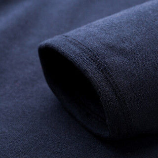 INTERIGHT秋衣秋裤男加绒加厚保暖内衣 圆领保暖套装冬季内衣 藏青 180/105(XXL)