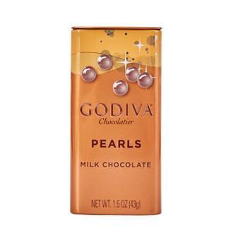 土耳其进口 歌帝梵(GODIVA) 牛奶巧克力豆 3罐装礼盒129g 糖果零食 婚庆伴手礼
