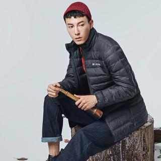 哥伦比亚(Columbia)羽绒服 男士冬季运动户外加厚加绒保暖650蓬松度灰鸭绒防风外套 WE0951 010 M