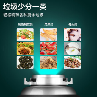 华帝(VATTI)垃圾处理器厨房厨余粉碎机隐藏式水槽菜盆粉碎机家用 CY-A550(V)