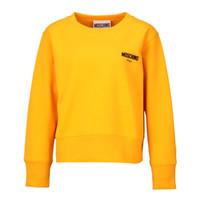 MOSCHINO 莫斯奇诺 黄色圆领logo长袖卫衣运动衫 E J 1717 5527 8039 38 女款