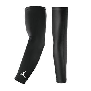 耐克NIKE射手AJ护臂套运动骑行篮球健身护小臂护大臂护肘黑色2只装 JKS04010 SM(肘关节22-24cm)