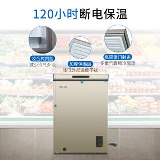 美菱(MeiLing)100升单温家用小型冰柜 一级能效 冷藏冷冻转换柜  变温迷你冷柜 卧式冰箱 BC/BD-100DT
