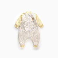 童泰TONGTAI 婴儿床品1-3岁男女宝宝分腿睡袋 黄色 79*48CM T93C0255