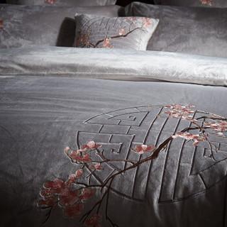 艾维(I-WILL)四件套 秋冬加厚保暖套件双人床单被套床上用品 如意1.5米床 200*230cm