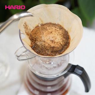 HARIO 日本进口咖啡套装耐热玻璃V60滴滤式咖啡滤杯新手咖啡壶套装 定制款 白色