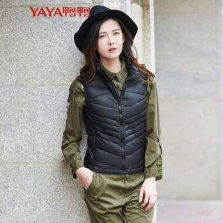 鸭鸭(YAYA)冬款女装时尚轻薄背心羽绒服女无袖薄款保暖 D-57026 黑色 165