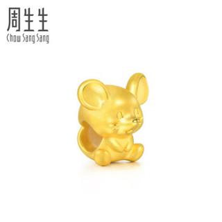 周生生 CHOW SANG SANG 黄金转运珠足金Charme串珠系列开运福鼠转运珠 本命年 黄金手链 91440C 定价 转运珠