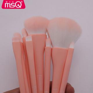 魅丝蔻(MSQ)魅丝蔻诗莎娜系列小欢喜化妆刷套装(粉色)散粉刷粉底刷晕染刷鼻影刷眼影刷化妆刷套装