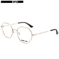 麦昆(McQ)眼镜框男 镜架 透明色镜片金色镜框MQ0230OA 002 54mm