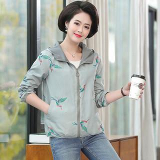 俞兆林 2019秋季新款中年妈妈外套宽松大码洋气中老年女装双面穿夹克YTWT197319灰色2XL