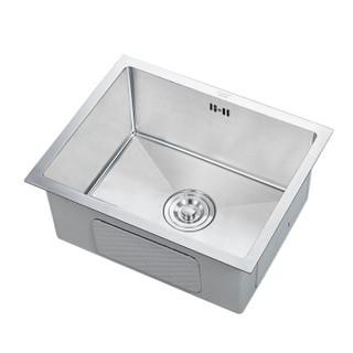 科固(KEGOO)K10029 厨房水槽手工槽单槽 304不锈钢拉丝洗菜盆洗碗池50*40