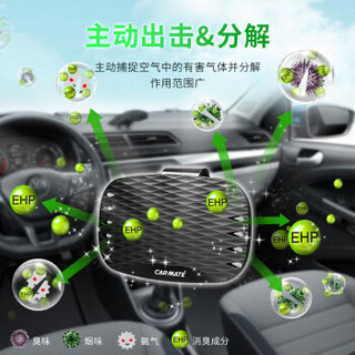 快美特(CARMATE) 汽车除味 车内除异味空气清新剂车里净味消除烟味遮阳挡除臭剂 CDR162 魅力清爽