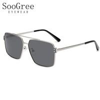 SooGree偏光太阳镜近视墨镜眼镜男遮阳镜司机镜驾驶镜开车防强光G6600 银框灰片