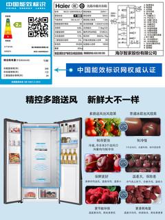 Haier 海尔 BCD-536WDEAU1 变频 风冷 对开门冰箱 536L