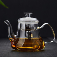 美斯尼 耐热玻璃蒸茶壶黑茶普洱蒸茶器蒸汽壶 可用于电陶炉明火加热 功夫茶具 蒸茶壶 1280ml *3件