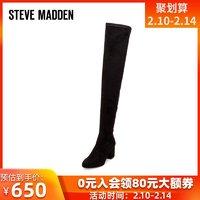 Steve Madden欧美冬长筒靴女高跟过膝靴
