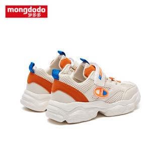 巴拉巴拉旗下梦多多mongdodo童装儿童旅游鞋2019新款中大童运动鞋79203191156米黄34