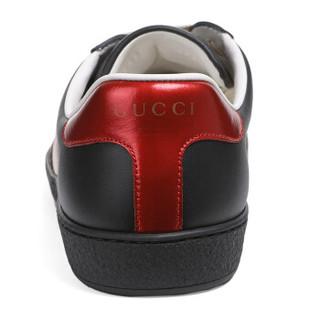 GUCCI 古驰 GUCCI 男鞋 黑色牛皮Ace系列条纹男士运动鞋 523469 0FIV0 1076 6/40
