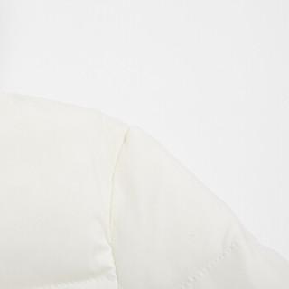 海澜优选2019秋冬羽绒服女士时尚短款立领保暖白鹅绒羽绒服FWRAJ49511A本白(32)170/92A(XL)