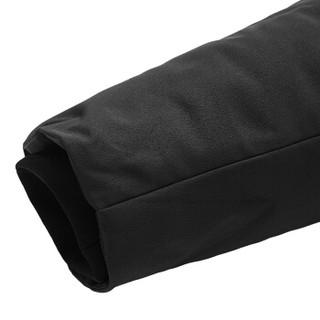 鸭鸭(YAYA)羽绒服男2019冬季新款时尚休闲温暖中长款连帽大衣外套GSYR8107 黑色 2XL