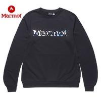 Marmot/土拨鼠2020新款户外舒适男女加绒圆领卫衣保暖内搭衬衣H83785