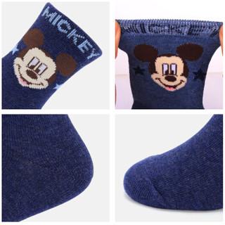 迪士尼儿童袜子纯棉冬季男童女童短袜宝宝小孩秋冬季学生中筒棉袜 SM3649米奇 22-24cm(建议年龄10岁以上)