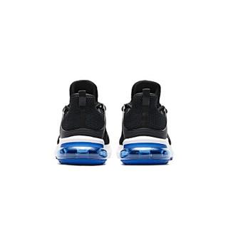 乔丹 男鞋轻便休闲鞋气垫减震跑步鞋 XM2590205 黑色/活力蓝 42