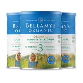 BELLAMY'S 贝拉米 有机婴幼儿奶粉 3段 900g *3件