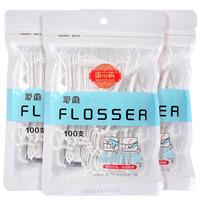 唐宗筷 洁齿牙线棒 牙线 牙签 家庭用 高拉力耐用 两袋200支 C6535 *10件