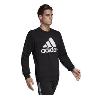 阿迪达斯 ADIDAS 男子 运动型格 MH BOS CREW FT 运动 卫衣/套头衫 DT9941  L码