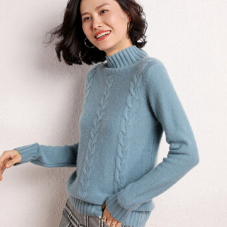 BANDALY 2019秋冬季新品女装羊绒衫女半高领套头毛衣加厚长袖针织打底衫 GZHB999838 豆沙红 XL