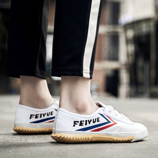 飞跃(Feiyue)男女童系带潮流经典跑步田径休闲帆布鞋 501 白色 35