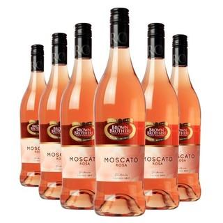 BROWN BROTHERS 布琅兄弟 莫斯卡托桃红甜葡萄酒整箱(低醇葡萄酒) 750ML