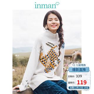 INMAN 茵曼 188AL4451629 女士长款针织连衣裙