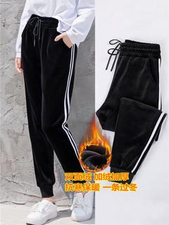 绢倩  JQSRKZ-1 女士显瘦金丝绒小脚哈伦裤