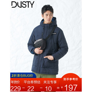 DUSTY DU184PJ014 男士连帽中长款棉服
